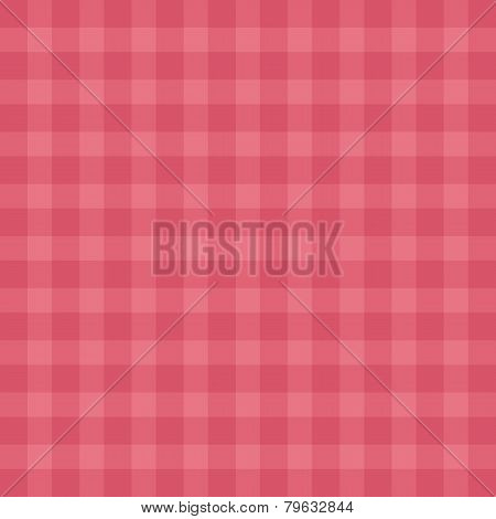 Flat easy tilable red gingham repeat pattern print