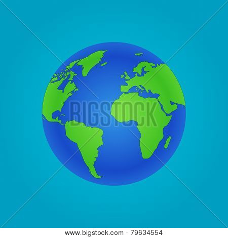 Isolated Globe icon and green map