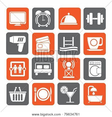 Silhouette Hotel and Motel facilities icons