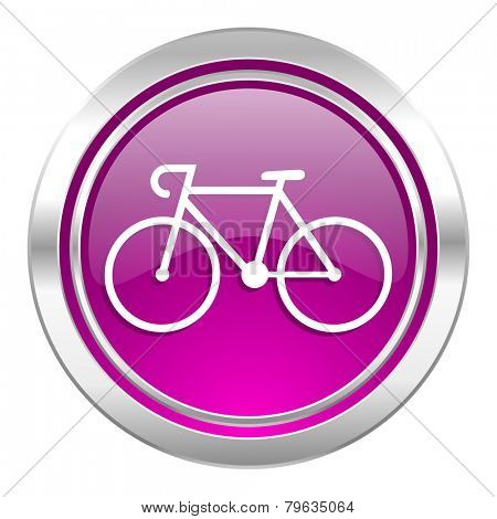 bicycle violet icon bike sign