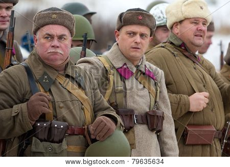 Soviet Soldiers In Row
