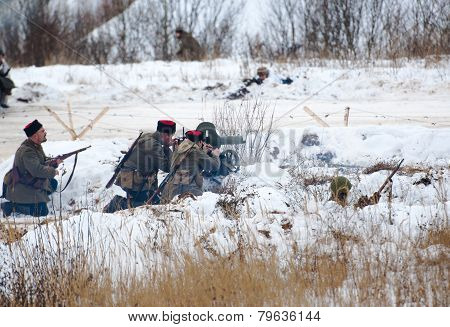 Cossacks Fires Machine Gun