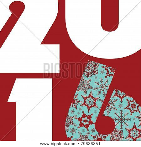 2016 New Year Greetings Card.