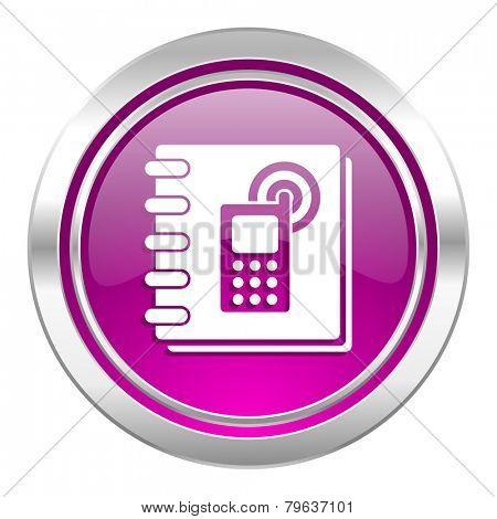 phonebook violet icon
