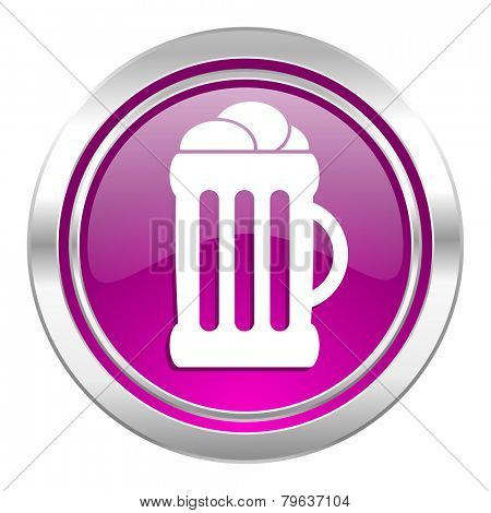 beer violet icon mug sign