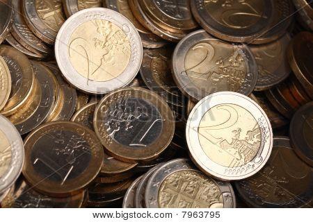 Hintergrund der ein- und zwei euromünzen