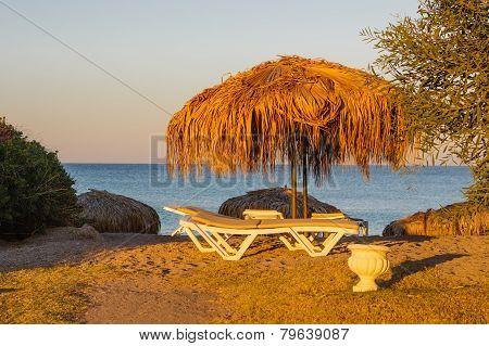 Early Morning On A Sea Beach