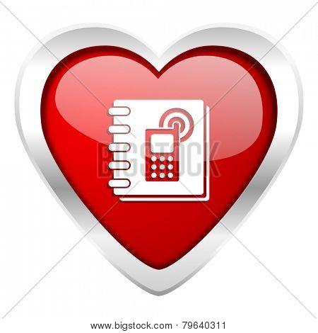 phonebook valentine icon