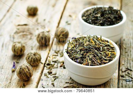 Green Tea In A White Bowl