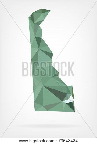 Low Poly map of Delaware state