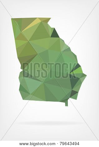 Low Poly map of Georgia state