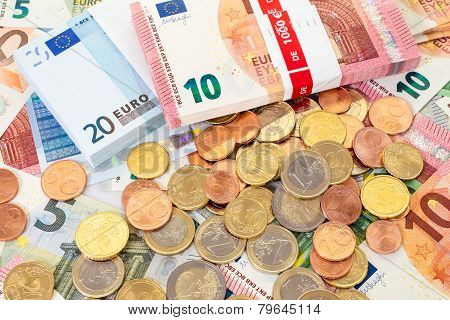 Euro (eur) Banknotes And Coins