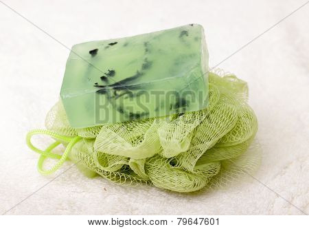 Soap, Washcloth, Towel.aroma Therapy - Stock Image