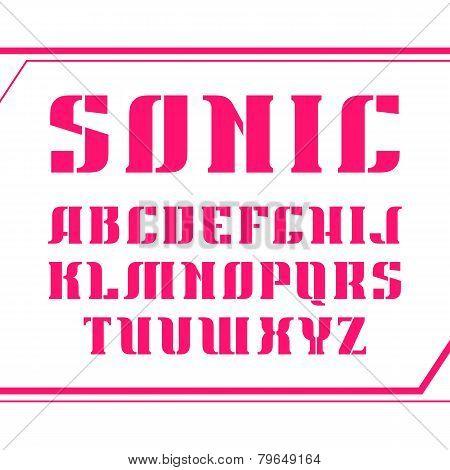 Stencil-plate Serif Font Bold