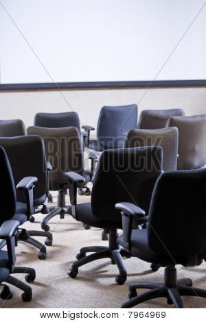 Room Full Of Empty Office Chairs