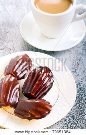 Small Cakes, Coated With Chocolate