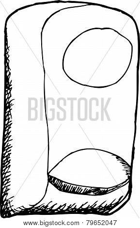 Outlined Soap Dispenser