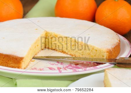 Clementine Pie With Clementines And Knife