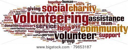 Volunteering Word Cloud