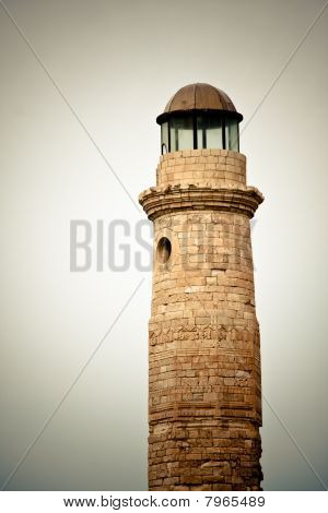 Old Lighthouse In Rethymno