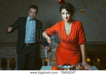 Woman With A Fork, The Man Holding Knife.