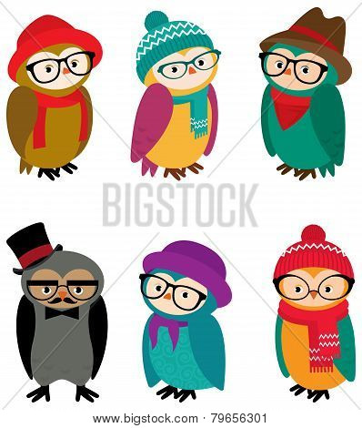 Set Owls Hipsters