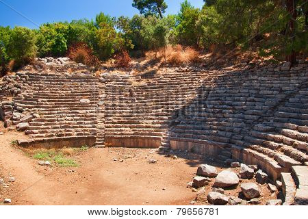 Theater At Phaselis An Ancient Greek City