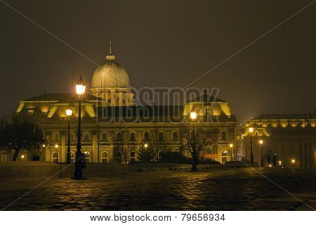 Hungarian National Gallery At Night, Budapest