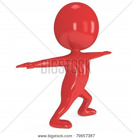 3D Man Doing Yoga Exercise