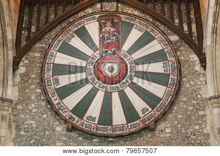 King Arthur's Round Table On Temple Wall
