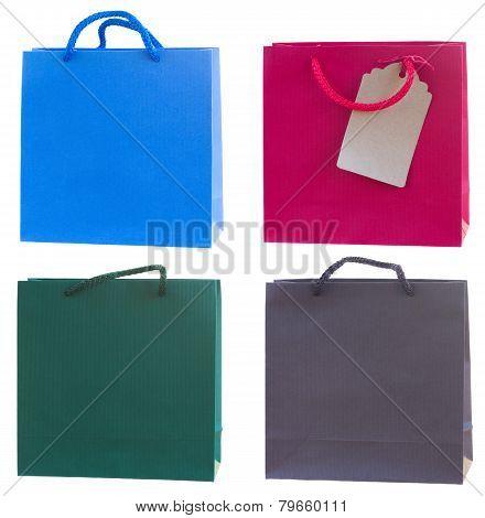 Colorful gift bag set