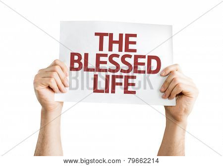The Blessed Life card isolated on white background