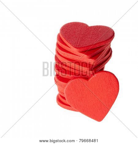 Stack of red hearts