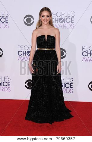 LOS ANGELES - JAN 07:  Greer Grammer arrives to the People's Choice Awards 2014  on January 7, 2015 in Los Angeles, CA