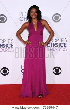 LOS ANGELES - JAN 07:  Gabrielle Union arrives to the People's Choice Awards 2014  on January 7, 2015 in Los Angeles, CA