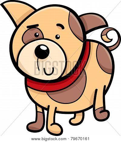 Spotted Puppy Cartoon Illustration