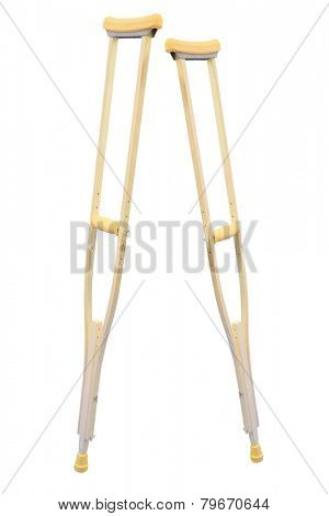 crutch for rehabilitation isolated under the white background