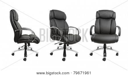 Business chair isolated on plain background