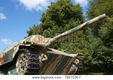 Panzer Tank in the memorial museum of the Battle of Normandy, Bayeux, Normandy, France.