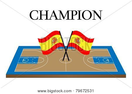 Basketball Champion Court Spain
