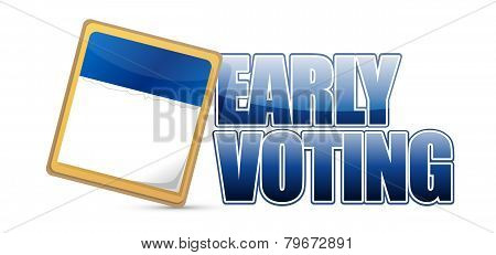 Early Voting Sign And Calendar Illustration Design