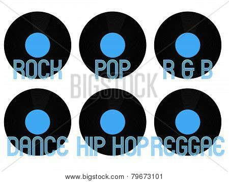 Music Genres Vinyl 1
