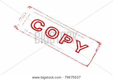 Copy Stamper Printed In Red