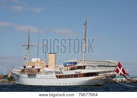 Her Danish Majesty's Yacht Dannebrog in the harbour of Copenhagen