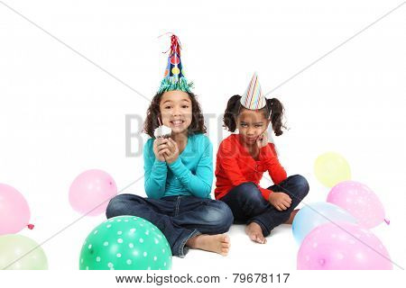Happy Birthday girl with a jealous sister