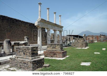 Ruins In Pompeii, Italy