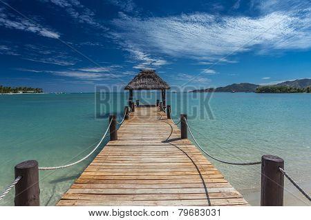Pier in Fiji