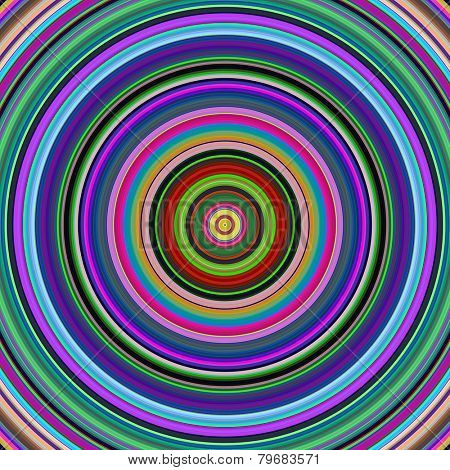Multicolored vibrant circles pattern illustration.