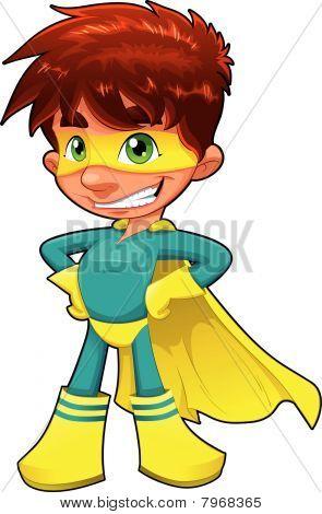 Young superhero.