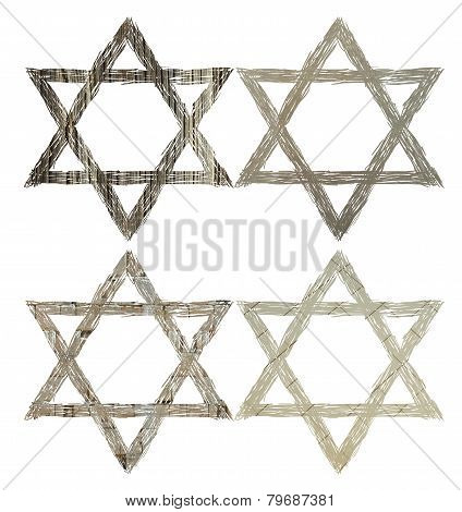 Four textures of the Star of David